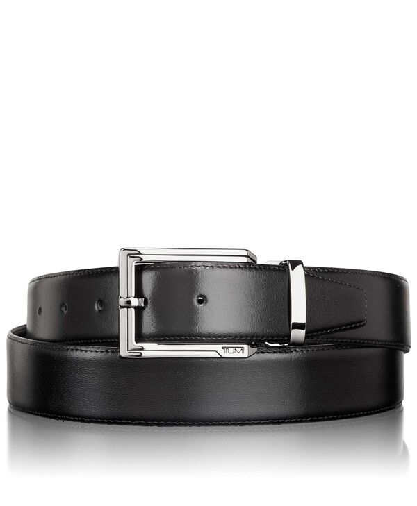 Belts Polished Etched Buckle Reversible Belt OS